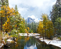 Half Dome Merced River Reflection